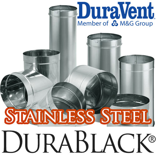 DuraBlack Stainless Steel Chimney Pipe